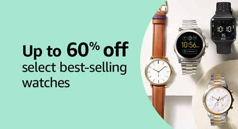 Extra 30% off Prime Day promo on watches