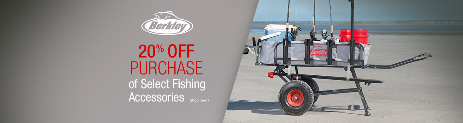 promo on select fishing accessories