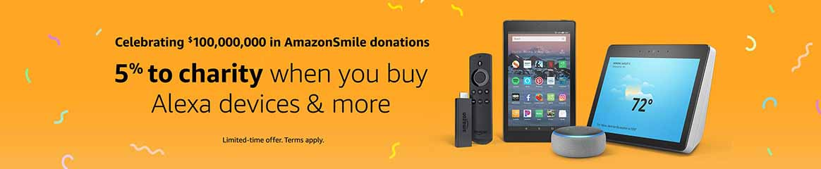 get 5% donation to your charity account when purchasing on AmazonSmile