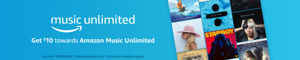 $10 free promo code on Amazon Music Unlimited