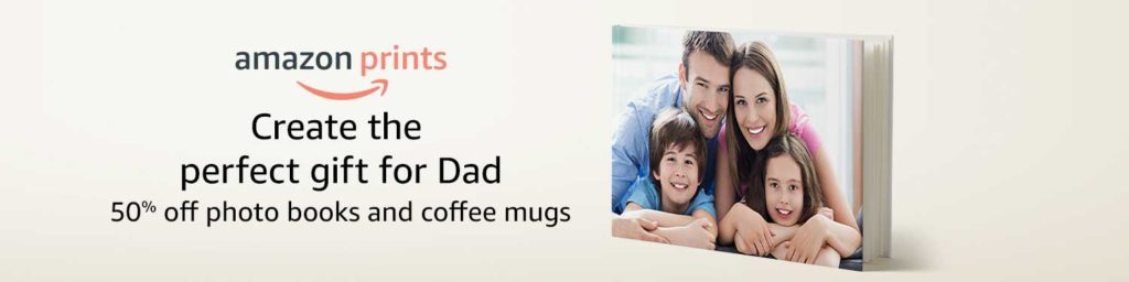 promo code 'LOVEDAD' on Amazon Prints