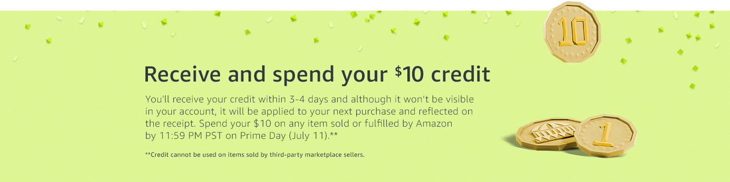 Free $10 Amazon Credit in Prime Day 2017