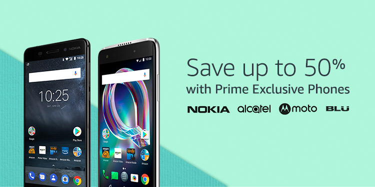 Savings on Prime Exclusive Phones