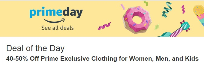 Prime Day exclusive discounts on cloothing