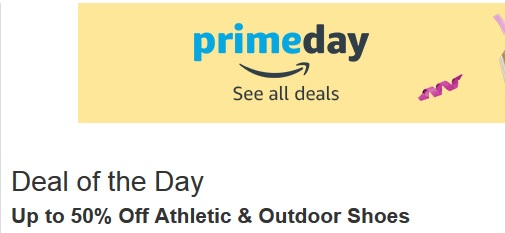 50% off Athletic and outdoor shoes