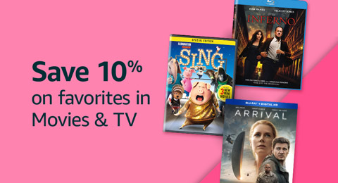 10% off movies and TV