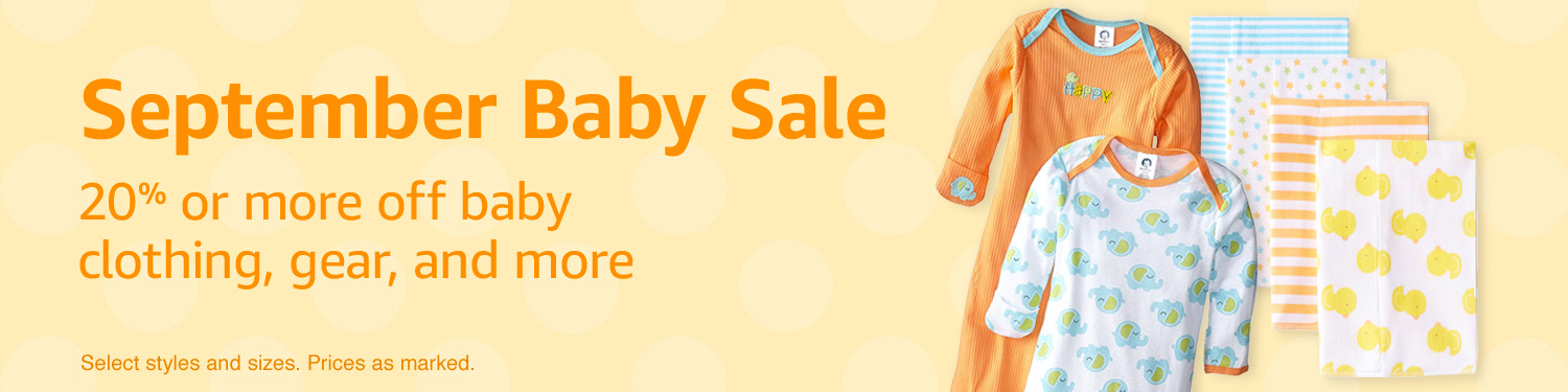 Extra 30% off Amazon fall promo on baby clothing & gear