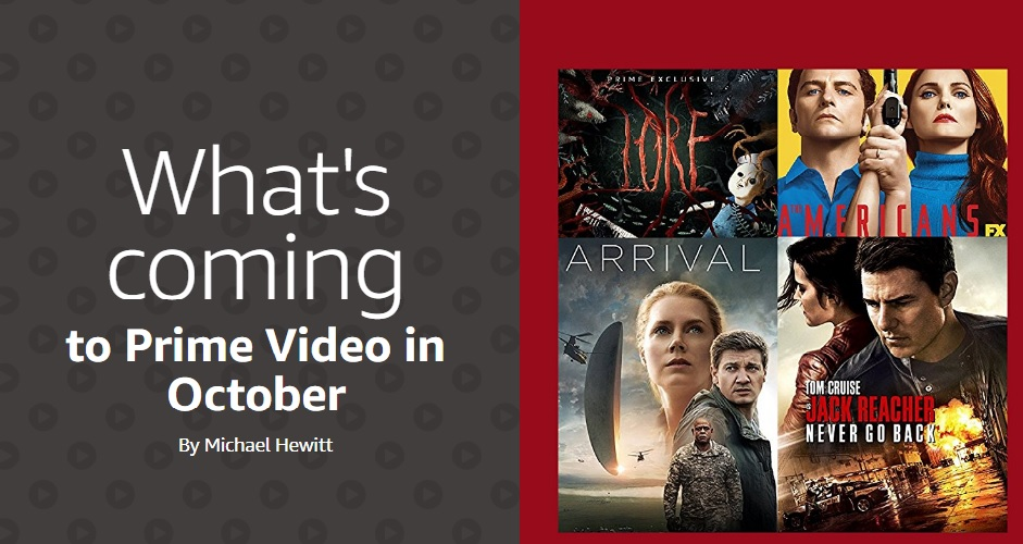 Amazon Prime Video in October