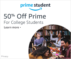 $5.49 a month Amazon Prime Student with no annual commitment