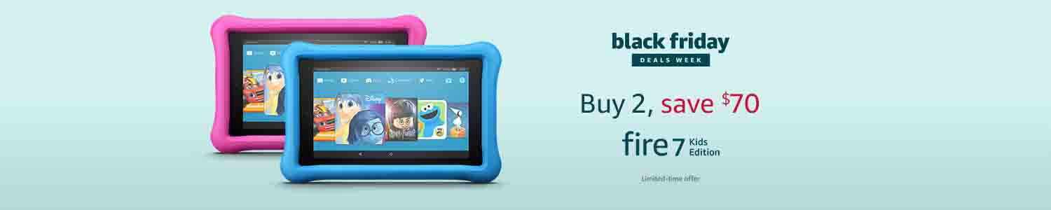 promo code 'KIDS2PACK' on purchase of 2 Fire Kids all-new edition tablets