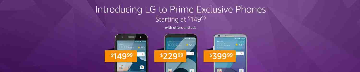 promos on exclusive phones for Amazon Prime Member
