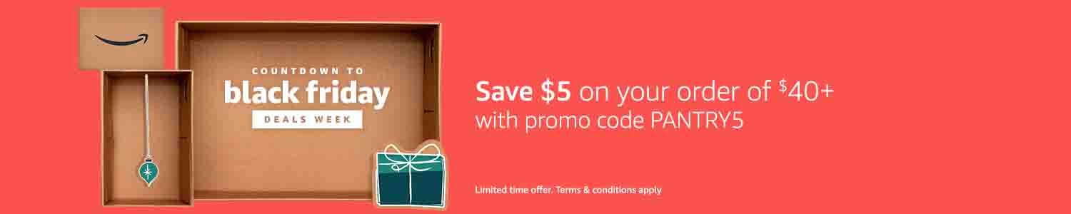 Extra $5 off promo code 'PANTRY5' for Amazon Prime Pantry