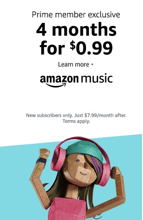 prime promo for 4-months Music Unlimited subscription