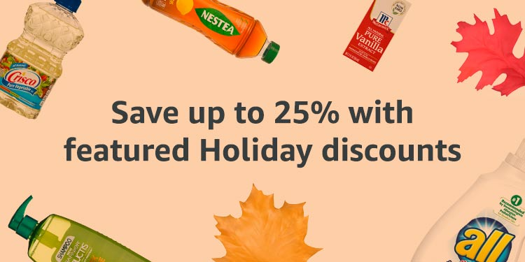 Promo code 'HOLIDAYSHIP' for savings on Amazon Prime Pantry