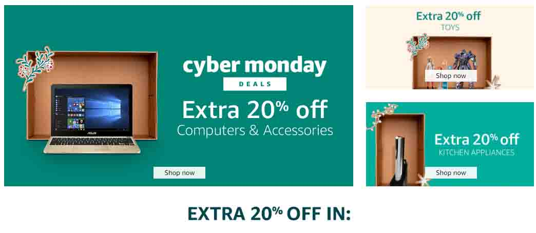 Extra 20% off Cyber Monday promo at Amazon Warehouse