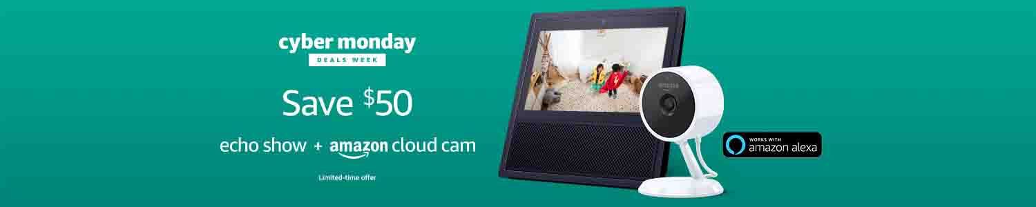 Holiday promo codes for Echo Show and Amazon Cloud Cam