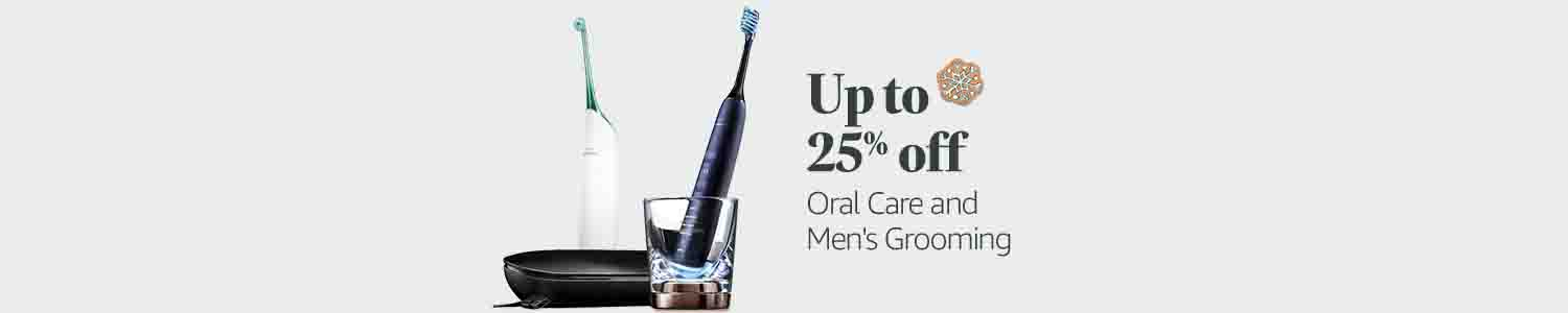 25% off Oral Care and Men's Grooming
