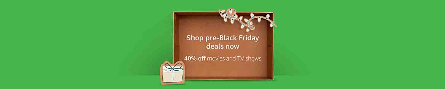 40% off pre-Black Friday promo for movies & TV shows