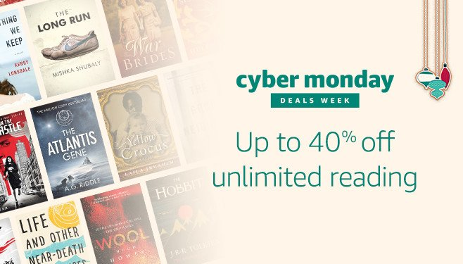 40% off Cyber Monday promo for Amazon Unlimited Reading
