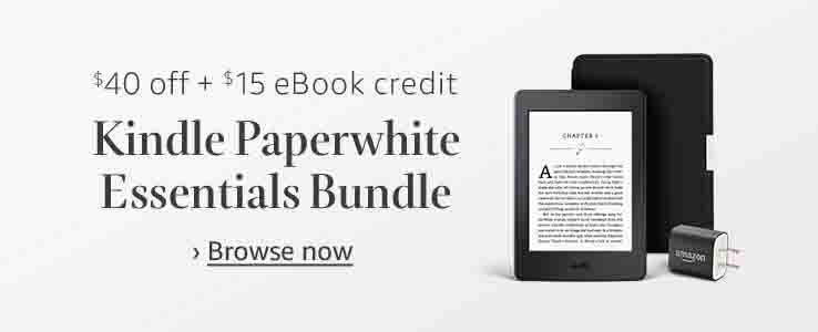 $40 off plus free $15 Amazon eBook credit for Kindle Paperwhite