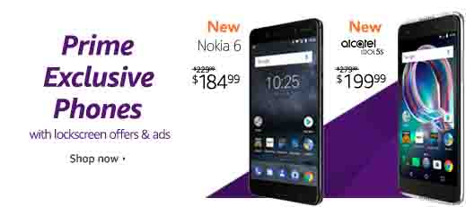 exclusive phones for Amazon Prime Member