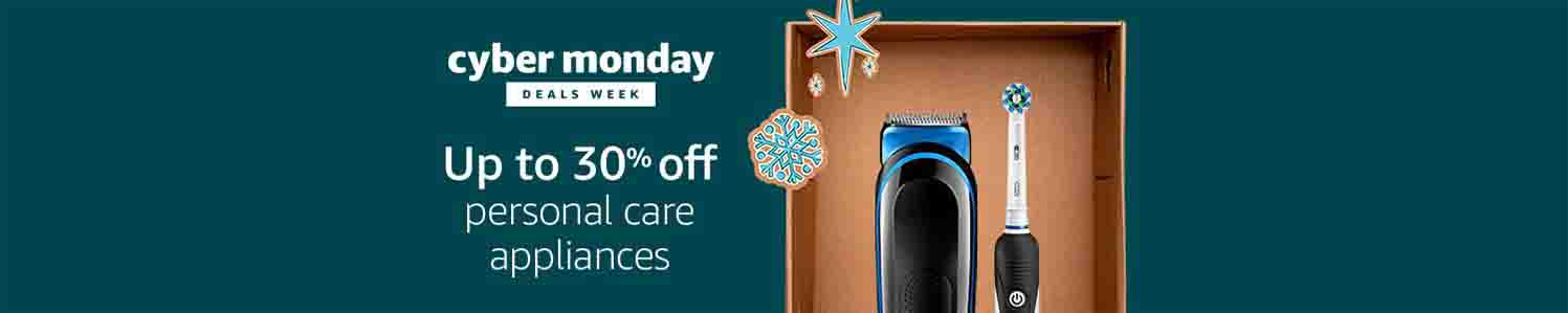 Extra 30% off Cyber Monday promo for personal care appliances by Amazon