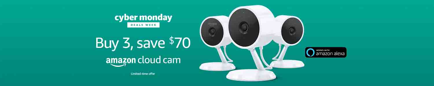 Promo codes '2CLOUDCAM' & '3CLOUDCAM' for Amazon Cloud Cam