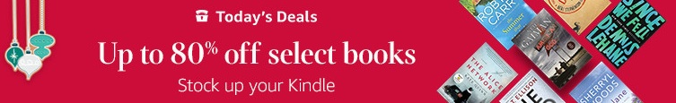 Up to 80% off select Kindle books deal day