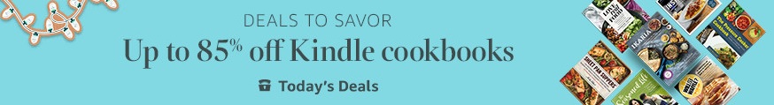 85% off select Kindle cookbooks