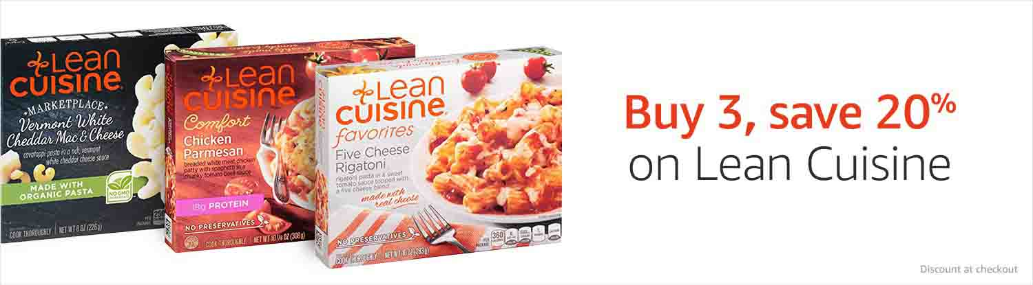 Buy 3, save 20% on Lean Cuisine items