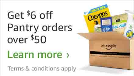 $6 off $50 promo on Amazon Prime Pantry