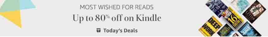80% off the most wished Kindle books