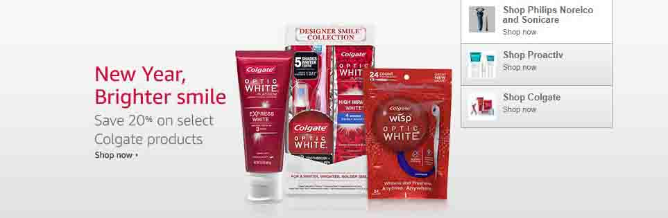 Extra 20% off promo coupon for Colgate Oral Care products by Amazon