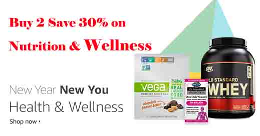 Extra 30% off promo month on spending of 2 Nutrition & Wellness products by Amazon