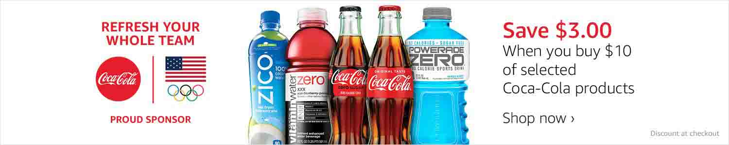 Extra $3 off promo for Coca-Cola products by Amazon
