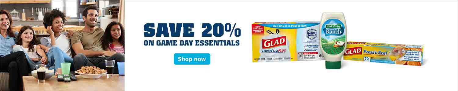 Extra 20% off promo on March Madness Game Day at Amazon Pantry