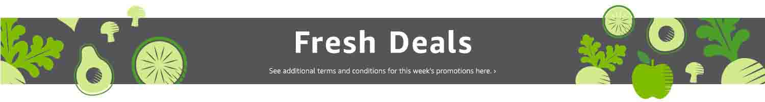 Extra $25 off March promo code 'FRESH25' for Amazon Fresh