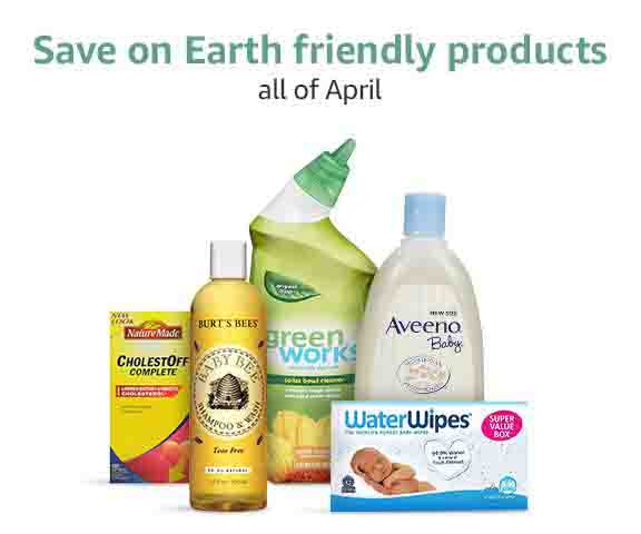 Extra 20% off April promo for Earth Month by Amazon