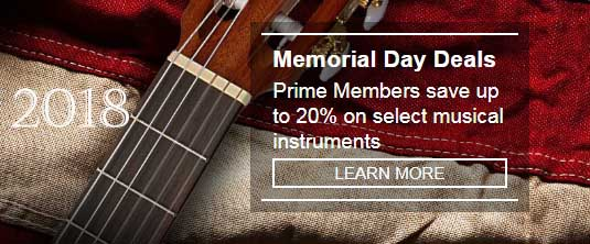 Memorial Day savings on Musical Instruments for Prime Members by Amazon