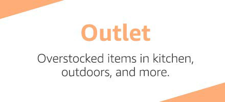 outlet promo for Amazon Kitchen, Outdoor, and Beauty products