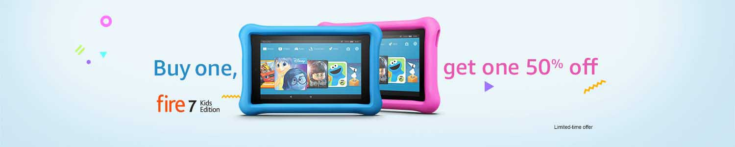 promo code 'KIDS2PACK' on purchase of 2 Amazon Fire Kids Edition