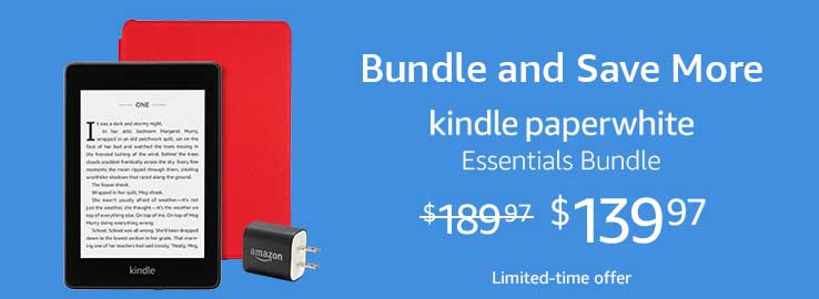 MONTHLY PROMOS FOR AMAZON KINDLE PAPERWHITE GIFT BUNDLE