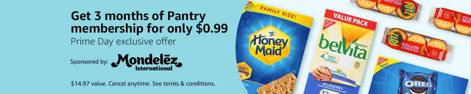 $0.99 promo for 3-months Prime Pantry membership by Amazon
