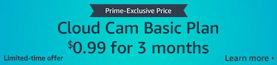 $0.99 for 3-months Amazon Cloud Cam plan