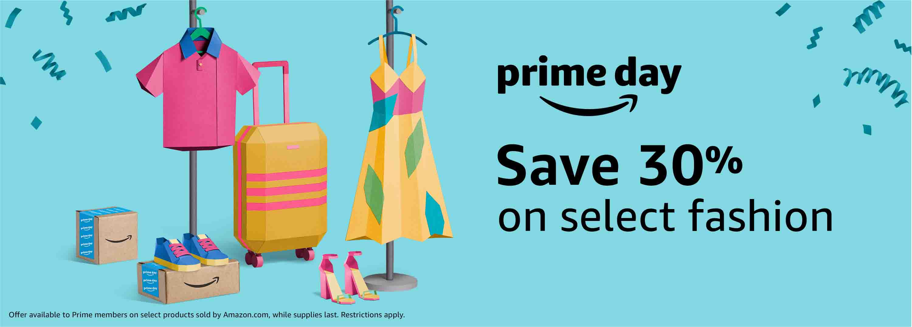 Prime Day 30% off clothing/shoes