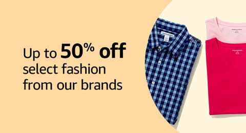 Save 50% on Amazon fashion brands