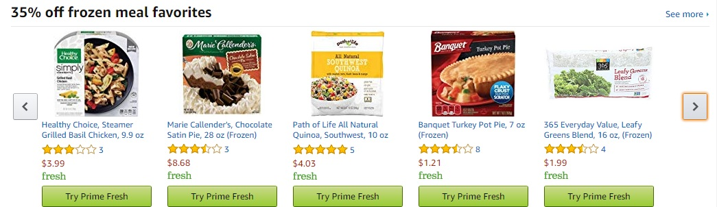 Promos in Prime Fresh to Amazon Prime Member