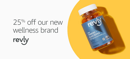 25% off promo for Revly wellness products by Amazon