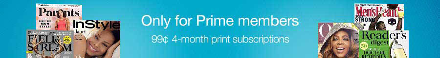 Promos for Amazon best-selling magazines