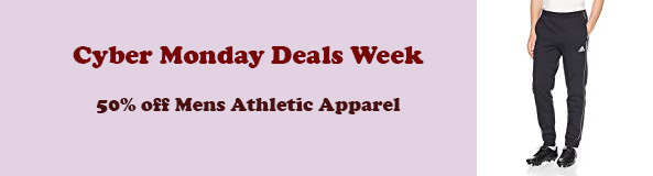 save 50% on select mens' athletic apparel
